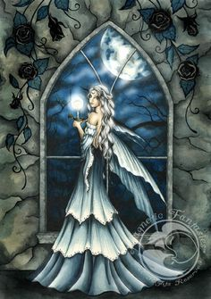 Jessica Galbreth Fairy Art | Nightfall Jessica Galbreth art print magnet Magnetic Fantasies