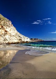 Golden sands .... blue seas... Playa del Plomo, Almeria, Spain