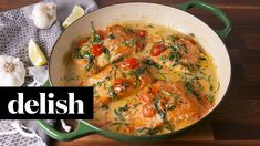 Tuscan Butter Salmon | Delish - YouTube
