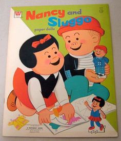 WHITMAN: 1976 Nancy and Sluggo Paper Dolls #Vintage #Toys
