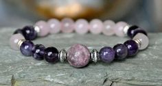 Protection Tourmaline Amethyst Rose Quartz by CrystalsAndRainbows