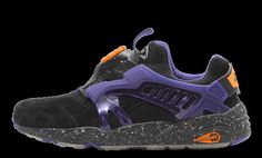 Find out all the latest information on the Atmos X PUMA Disc Blaze Glow Purple Sneaker Release, February 2015, Best Sneakers, Sun Moon, Puma, Glow, Purple, Stuff To Buy, Shoes