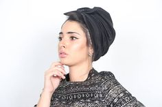 This turban bow hat. bow style turban in black&white. The Turban is stretchy, light, and comfortable. Amazing collection of: bow turban, knit headband, knot turban, turban hat, Turban headband, head band, hair accessories, head scarf, turban headwrap, hijab fashion, hair turban, hair bands Ronas turban collection was inspired by the designers need to cover her hair. Every turban is designed around the desire to cover her hair simply and beautiful. The best part about turbans, is theyre me...