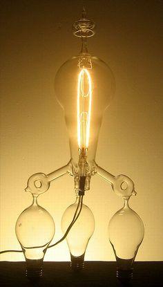 Hand-blown glass custom light bulbs