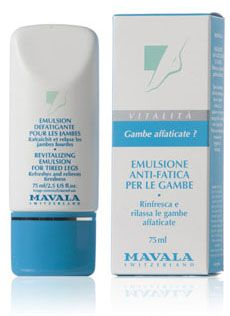 Emulsione anti-fatica per le gambe