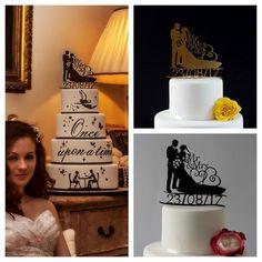 Bride and Groom Wedding Cake Topper Custom Date Cake Topper