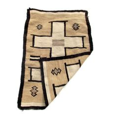 Two Grey Hills 1930's Navajo Saddle Blanket with Cross Design SOLD by rubyplusgeorge.com