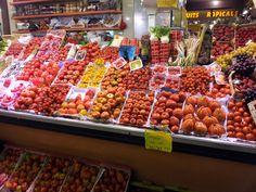 A whole world of tomato fun in Barcelona! Santa Caterina Market in the Born area