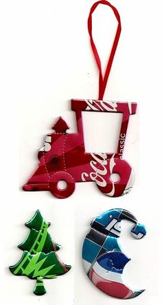recycled soda cans by Lensia Pop Can Crafts, Christmas Projects, Crafts To Make, Holiday Crafts, Christmas Crafts, Diy Crafts, Christmas Tree, Aluminum Can Crafts, Metal Crafts