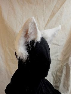 CUSTOMIZABLE White wolf realistic faux fur costume ears