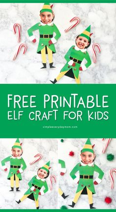 This winter turn your child into Buddy the Elf with this free printable elf craft for kids. They'll have so much fun with this DIY puppet! Elf Christmas Decorations, Christmas Party Ideas For Teens, Fun Christmas Activities, Preschool Christmas Crafts, Adult Christmas Party, Kids Christmas, Santa Crafts, Handmade Christmas, Christmas Trees