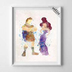 Hercules Art, Hercules Poster, Hercules Print, Megara Print, Disney Poster, Watercolor Art, Baby Shower Gift, Nursery Room, Gift For Him, Wall Art. PRICES FROM $9.95. CLICK PHOTO FOR DETAILS. #inkistprints #watercolor #watercolour #giftforher #homedecor #wallart #walldecor #poster #print #christmas #christmasgift #nurserydecor #mothersdaygift #babygift #valentinesdaygift #painting #dormdecor #disney #disneyart #disneyland #disneywallart #disneyfan #disneydecor #Hercules #Megara