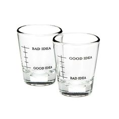 Bad Idea/Good Idea Shot Glasses - Set of 2