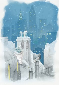 Tiffany & Co.: This is how we want our rooftops sprinkled: with snow and diamonds.