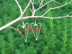 Large Red Resistor Heart Earrings by IrrestiblyEclectic on Etsy, $18.00