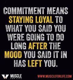 Commitment #FitnessMotivation