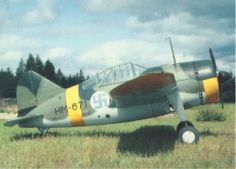 rewster Buffalo in Finnish Air Force colors, WW2