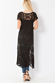 Embroidered Noelle Cardigan in Black   Women's Clothes, Casual Dresses, Fashion Earrings & Accessories   Emma Stine Limited