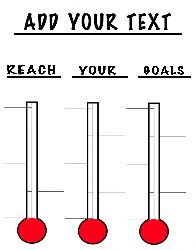 Custom Single Horizontal Goal Or Fundraising Thermometer  Custom