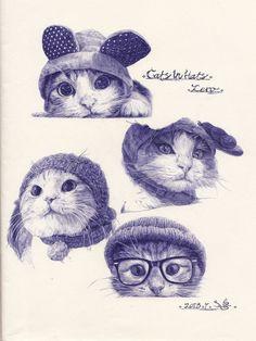 cats, Yare Yue on ArtStation at https://www.artstation.com/artwork/R3gvA