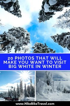 20 photos that will inspire a visit to Big White in the Okanagan in winter; this is a family-friendly resort with loads of off mountain activities #BigWhite #photos #winterfun  #skiing #Okanagan #skiresorts