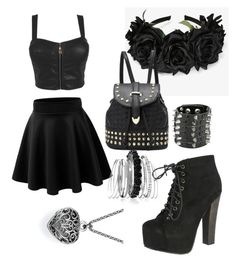 """""""black is the new chic"""" by mayal-2 ❤ liked on Polyvore featuring Breckelle's and Avenue"""
