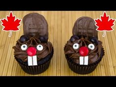 Beaver Cupcakes for Canada Day - YouTube - Cupcakes and Cardio