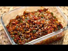 Chili, Beans, Pork, Vegetables, Cooking, Recipes, Foodies, Korean, Kale Stir Fry