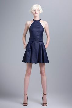 see the seam along the bust? Gets rid of unwanted gathering. Also pockets. I also like the belt. Love this dress. Emporio Armani