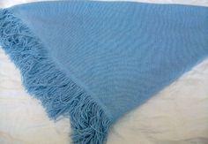 Women Girl, Blue Basic Shawl, Great Winter Accessory . $14.99