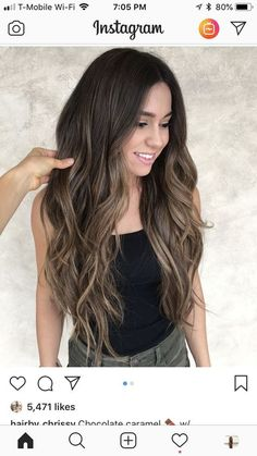 Best ombre hair color for dark hair, What is the best shampoo for blonde color treated hair. Hair Color Highlights, Ombre Hair Color, Hair Color For Black Hair, Black Hair Dyed Brown, Brown Highlights On Black Hair, Long Brown Hair, Balayage Highlights, Brown Hair Balayage, Hair Color Balayage