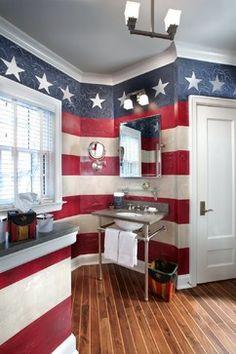 Color Code: Americana bathroom