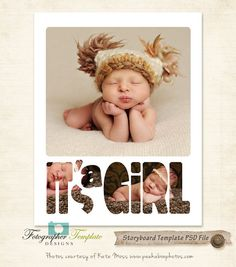 X Storyboard Template Newborn Baby Boy Photography Templates