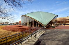 Built by Eero Saarinen and Associates in Cambridge, United States with date Images by Massachusetts Institute of Technology. Kresge Auditorium, designed by Finnish American architect Eero Saarinen, was an experiment in architectural form and . Eero Saarinen, Auditorium Architecture, Urban Architecture, Robert Mallet Stevens, Shell Structure, Gothic Buildings, Modern Buildings, Walter Gropius, Massachusetts Institute Of Technology