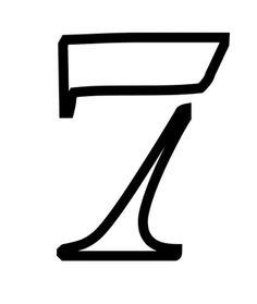Plantillas de stencils de números y símbolos gratis para imprimir y hacer en casa: Plantillas de stencils de números y símbolos gratis para hacer en casa: 7