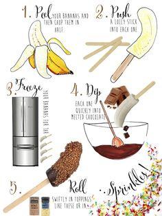 Choc dipped frozen banana recipe