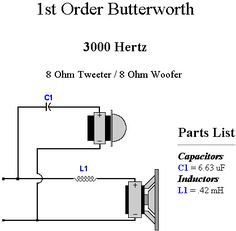 75f56d45d7c258c1f198b9f434de9296--tower-speakers-diy-audio  Way Crossover Wiring Diagram For Speakers on