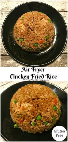 Air Fryer Chicken Fried Rice Recipe From Val's Kitchen - Air fryer recipes - Rice Recipes Air Fryer Oven Recipes, Air Frier Recipes, Air Fryer Dinner Recipes, Air Fryer Chicken Recipes, Air Fryer Fried Chicken, Air Fryer Recipes Asian, Air Fry Chicken, Easy Chicken Fried Rice Recipe, Air Fryer Recipes Zucchini