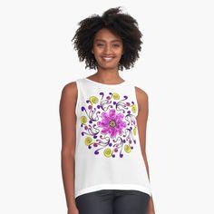Promote   Redbubble Boho Aesthetic, Boho Accessories, Violet, Pretty Flowers, Tshirt Colors, Chiffon Tops, Boho Chic, Shabby Chic, Female Models