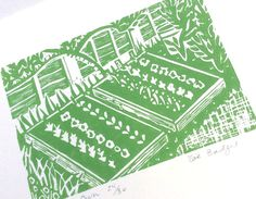 Grow your own linocut print. by Zebedeeprint on Etsy