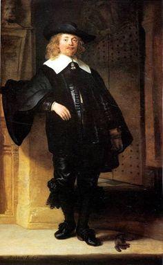Рембрант 113.Портрет стоящего мужчины (1639) (200 х 124.2) (Кассель, Schloss Wilhelmshohe)