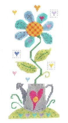 Crazy daisy cross stitch - Lots of cool, fun cross stitch kits here...