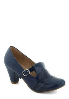 No I find the shoes to go with my vintage dress! Class Treasurer Heel in Blue, #ModCloth