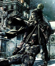 Batman vs Joker by Lee Bermejo