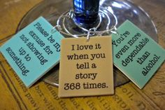 12 Funny Best Friends Sayings Wine Charms for by FortySevenGems, $23.00