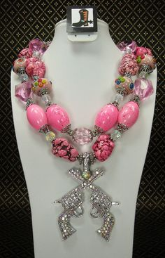 Pink Chunky Western Howlite and Glass by CayaCowgirlCreations, $56.50