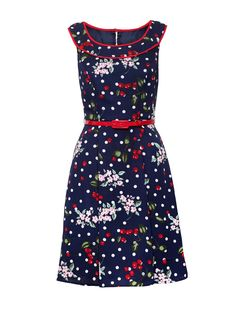 Luxury Women S Fashion Watches Product Floral Dress Outfits, Casual Dresses, Dresses For Work, Vintage Dresses, Vintage Outfits, Vintage Fashion, Cherry Dress, Review Fashion, Online Dress Shopping