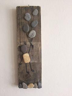 Pebble art up and away von LovinglyCreative auf Etsy