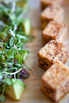 Zuma Miami ...spicy fried tofu with fresh avocado and Japanese herbs served with a tangy yuzu dressing.