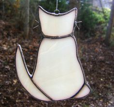 Cats Stained Glass Suncatcher Christmas by GothicGlassStudio